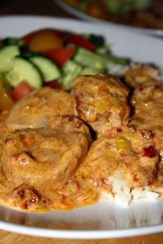 Fläskfilé i krämig sås2 Grilling Recipes, Pork Recipes, Lunch Recipes, Dinner Recipes, Cooking Recipes, Healthy Recipes, Recipies, Food For The Gods, Low Carb Meats