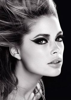 Doutzen Kroes | model | 50 | fashion | glamor | eyes | makeup | bw | ram2013