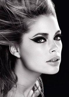 Doutzen Kroes   model   50   fashion   glamor   eyes   makeup   bw   ram2013