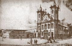 Iba Mendes: Fotos antigas do Rio de Janeiro - XLIII - RIO DE JANEIRO - Igreja de S. Joaquim (demolida na administração do Prefeito Passos), e o Externato do Colégio de Pedro II (antiga sede -século XIX) Brasil