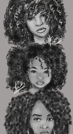 Afro Hair Drawing At PaintingValleycom Explore Collection Of Afro - afro hairstyles drawing hairstyles drawing girl Natural Hair Art, Pelo Natural, Natural Hair Styles, Black Girl Art, Black Women Art, Art Girl, Hair Sketch, Sketch Drawing, Sketches