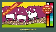 Our click and color games are simple and provide a way to encourage your toddler´s creativity. Made for parents with the purpose of combining fun with educational activities. Colouring Trains Game.