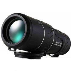 Black Dual Focus 50x52 Zoom Monocular Telescope Optic Lens Travel