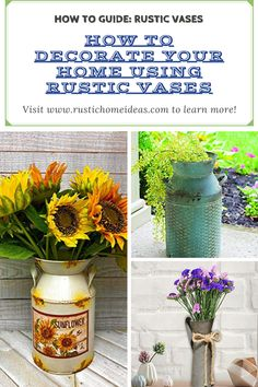 Learn How to Decorate your Home with Rustic Vases. Rustic Vases are beautiful and add charm to any space. Shop our large selection and find the one that is best for you. #RusticDecor #RusticVases #RusticHomeIdeas Rustic Vases, Rustic Decor, Glass Ceramic, Wood Glass, Vase Centerpieces, Vases Decor, Wooden Vase, Clear Glass Vases