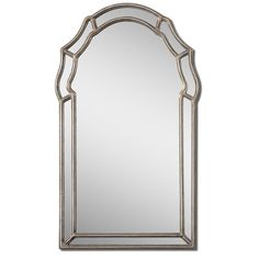 Shop Global Direct 21-in x 35-in Silver Leaf Polished Arch Framed French Wall Mirror at Lowes.com