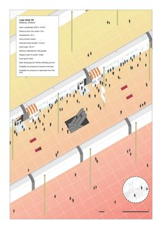 !FoodRail - Master Thesis in Architecture, Aristotle University of Thessaloniki, 2016. Axonometric View of wagons, train, Case study 3