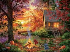 Landscape paintings acrylic farm New Ideas Landscape Photos, Landscape Art, Landscape Paintings, Nature Pictures, Beautiful Pictures, Kinkade Paintings, Acrylic Painting Inspiration, Autumn Scenes, Country Art