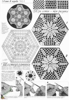 "Photo from album ""Дуплет on Yandex. Irish Crochet Patterns, Crochet Motifs, Crochet Diagram, Doily Patterns, Crochet Chart, Crochet Squares, Thread Crochet, Crochet Granny, Granny Squares"
