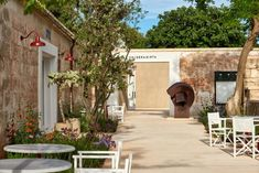 The site is complete with eight exhibition spaces, a restaurant, a gallery shop, a sculpture trail and biodiverse gardens. Spanish Architecture, Amazing Architecture, Menorca, Somerset, Terrazo, Stone Masonry, Nautical Looks, Spanish House