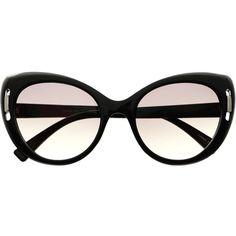 Large Vintage Fashion Womens Cat Eye Sunglasses Shades C1700 (87 SVC) ❤ liked on Polyvore