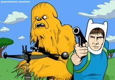 Han & Chewie - Adventure Time