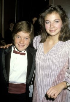 """Former """"Little House on the Prairie"""" star Jason Bateman (he played Charles and Caroline's adopted son James) and his real life sister Justine Bateman at the Youth in Film Awards, Dec. 4, 1983"""