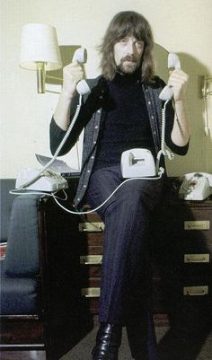 Jon Lord (Deep Purple)( thats ritchie on the phone, saying yes on one phone, and no on the other).