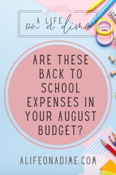 Here's a handy list for you with back to school expenses broken down for both virtual and on site learning! No matter which method your kiddos are going back to school this fall double check this list to make sure everything is in the budget!