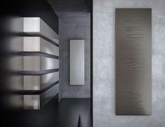RODLIER-DESIGN présente Radiateur GINGER de GRAZIANO SCULPTURAL DESIGN made in italy Surface minérale
