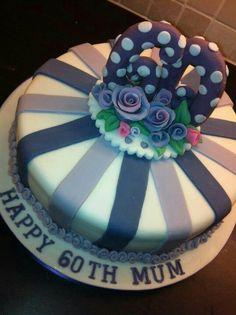 60th birthday lemon cake