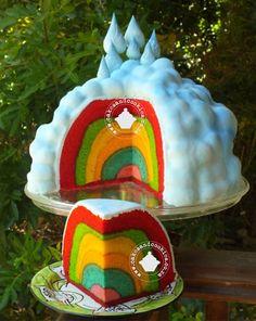 Rainbow Inside Cake