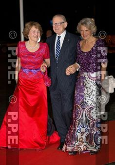 Noblesse & Royautés:  Dutch Royal Family attended a celebration of the reign of Princess Beatrix in Rotterdam, February 1, 2014-Princess Margriet, Pieter van Vollenhoven, and Princess Irene