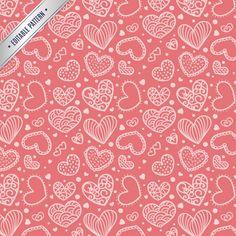Cute hearts pattern  - Freepik.com-Patterns-pin-27