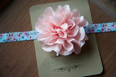 Emma Light Peachy Pink eyelet rosettes fabric by hopscotchboutique, $12.00 Hopscotch, Rosettes, Beautiful Hands, Flower Prints, Different Colors, My Girl, Headbands, Boutique, Girls