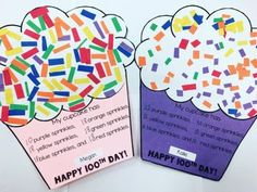 Day Cupcake Celebration - - Here is a wonderful freebie that your students are going to love! They can celebrate 100 days of learning with this fun activity. Who doesn't love adding 100 sprinkles to cupcakes? 100th Day Of School Crafts, 100 Day Of School Project, School Days, School Projects, Project 24, Kindergarten Shirts, Kindergarten Graduation, Reverse Tie Dye, Dose Of Colors