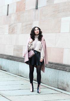 Leather Skater Skirt