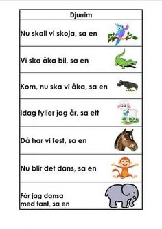 Mariaslekrum - Illustrerade rimramsor. Preschool Library, Learn Swedish, Body Preschool, Swedish Language, Songs For Toddlers, Educational Activities For Kids, Classroom Inspiration, Play To Learn, Science Lessons