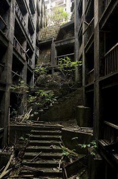 The ghost island of Hashima, 端島 (or Gunkanjima, 軍艦島) , Nagasaki Prefecture, Japan