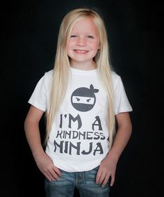Love this White 'Kindness Ninja' Tee - Toddler & Kids by The Talking Shirt on #zulily! #zulilyfinds