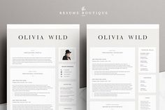 5 page Resume Template   Ultra Chic - Resumes - 2