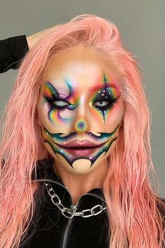 63 Trendy Clown Makeup Ideas for Halloween 2020 | Page 5 of 6 | StayGlam Clown Makeup, Halloween 2020