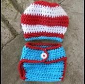 Dr Seuss Inspired Hat&Diaper Cover - via @Craftsy