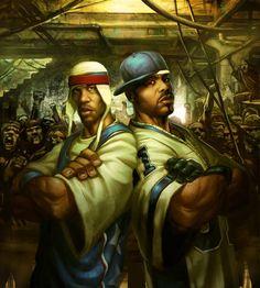 "hiphop-in-the-brain: ""Doc & Blaze "" Badass Drawings, Funny Drawings, Dope Cartoons, Dope Cartoon Art, Arte Hip Hop, Hip Hop Art, 2048x1152 Wallpapers, History Of Hip Hop, Black Comics"