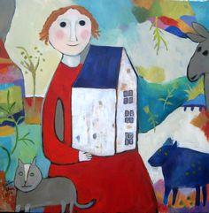 We'll Build a Home ©Barbara Olsen Acrylic on canvas 24x24