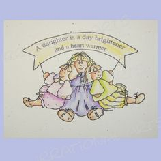 Hand Painted Illustration with Daughter Quote by IrrationalArts, $35.00