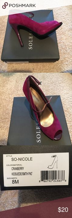 Sole Society brand new pumps Cranberry suede pumps. Sole Society Shoes Heels