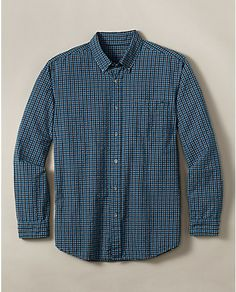Classic Fit Long-Sleeve Seersucker Shirt | Eddie Bauer.  See other w/ Same title for look of fit.