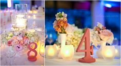small vase table sets, lighting for reception, beach wedding ideas