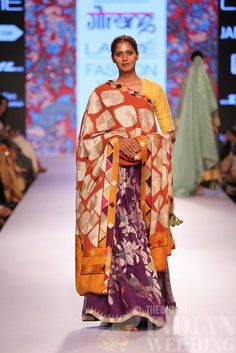 Gaurang Shah LFW 2015 - dupatta design on this lehenga for future outfit