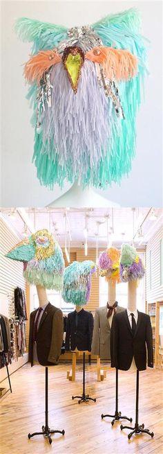 custom birds head made by Confetti System