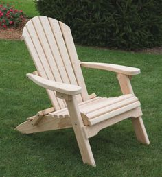Cypress Wood Folding Adirondack Chair