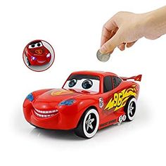 Interestingsport Cartoon Cars 2 Lightning McQueen Piggy Bank Coin Bank Money Banks Car Toy for Kids Baby Piggy Banks, Money Bank, Lightning Mcqueen, Decorative Items, Gifts For Kids, Kids Toys, Best Gifts, Cartoon, Cars