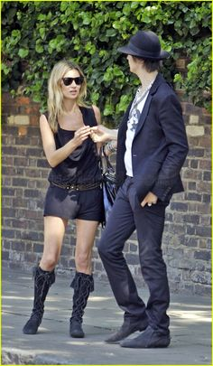 Kate Moss and Peter Doherty