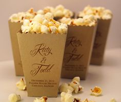 Mini Popcorn Box  Wedding Favor  Sample  1 Box by ericksondesign, $1.00