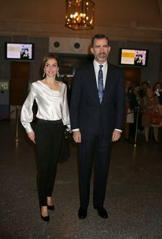 Queens & Princesses - King Felipe and Queen Letizia attended the last performance of the opera El Publico, which was held at the Royal Theatre in Madrid.