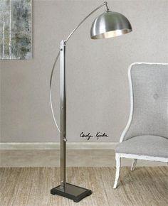 Uttermost Malcolm Brushed Nickel Floor Lamp (28634-1)