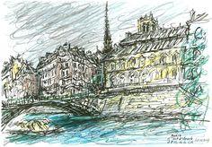 Paris Le Pont d'Arcole Et l'Ile De La Cité - Yann Le Houelleur