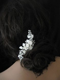 Accessori capelli sposa floreale perle d'acqua di retrobridal