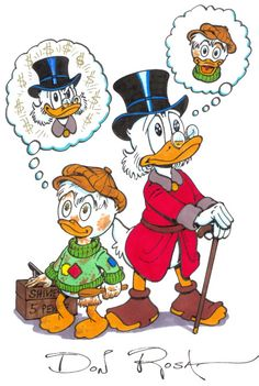 Scrooge McDuck by Don Rosa Disney Magic, Disney Mickey, Disney Art, Mickey Mouse, Cartoon Games, Cartoon Characters, Don Rosa, Dagobert Duck, Pixar