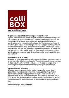 Verpakkings advies collibox